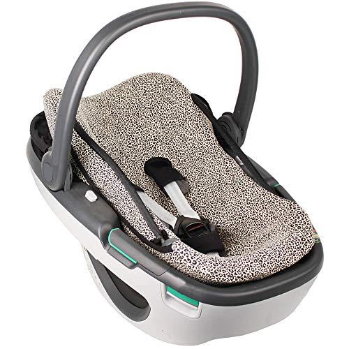 Fundas Para Sillas de Algodón Oeko-Tex para Silla de Coche Maxi Cosi Coral Funda Silla Garantiza la Comodidad de la Piel del Bebé y Ayuda a no Sudar Beige
