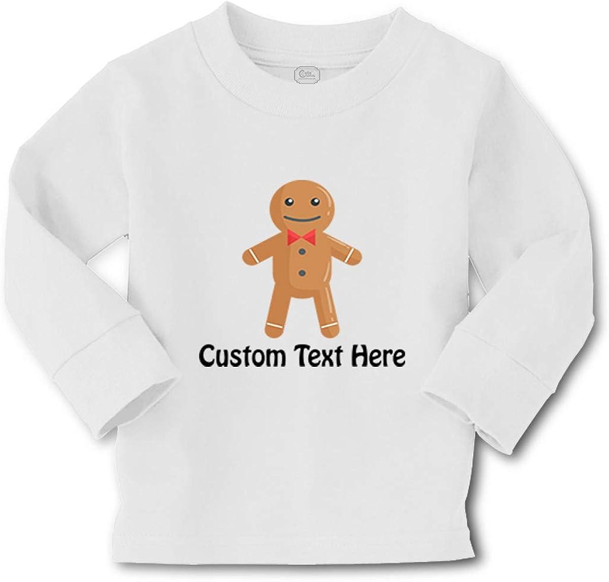 Kids Long Sleeve T Shirt Gingerbread Christmas Santa Xmas Boy & Girl Clothes