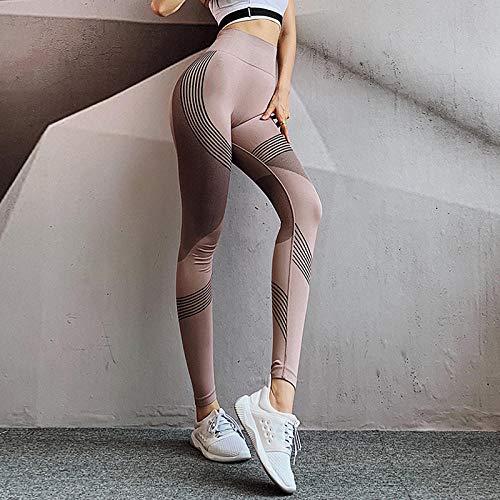 Yogabroek Workout Leggings,Stretch-fitnessbroek met hoge taille, sneldrogende trainingsbroek voor dames-Pink coffee color_S / M, Baggy Jumper Casual tops Blouse T-shirt