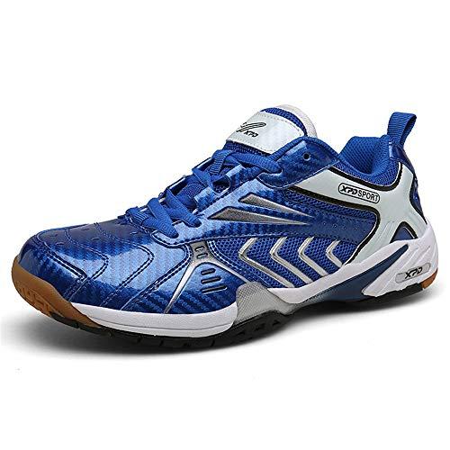 FJJLOVE Tischtennis-Schuhe, Ausgezeichnete Leistung Badminton Schuhe Leichte Sport-Turnschuh-Breath Indoor Sport-Tennis-Schuhe,43