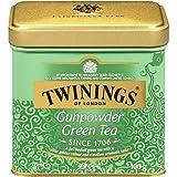 Twinings of London Green Gunpowder Loose Tea Tins, 3.53 Ounce (Pack of 6)