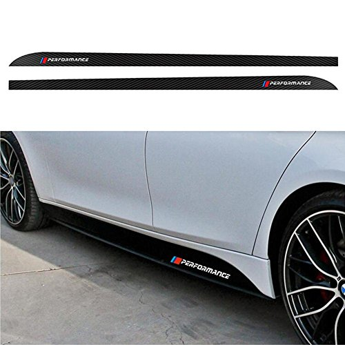 LIJUMN 'M Performance' Etiqueta engomada de la Fibra de Carbono,Faldones Laterales Pegatinas para B M W 3/4/5 Series / X1 / X3 / X5 / X6 F30 / F31 / F32 / F33 / F15 / F16 / F10 / E60 / E61