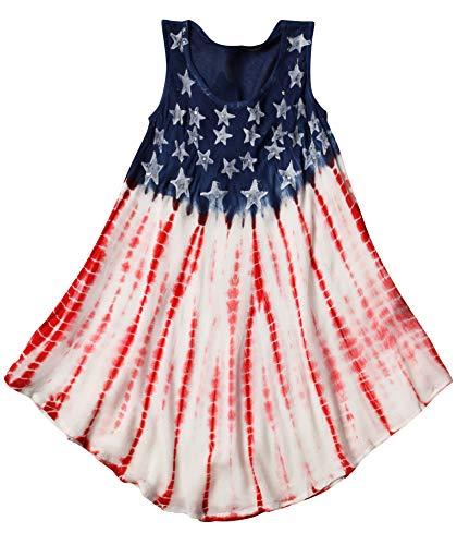 Riviera Sun G21718-6/6X American Flag Dress/Dresses for Girls,American Flag 1,6/6X