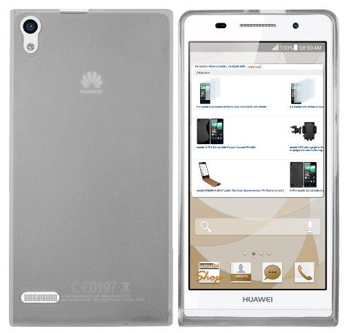 mumbi Hülle kompatibel mit Huawei Ascend P6 Handy Hülle Handyhülle, transparent Weiss