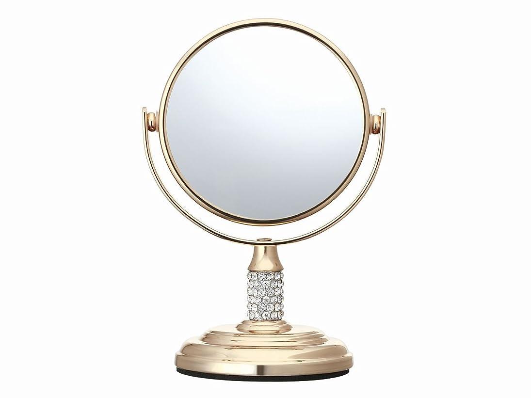センチメートル構成テーブルを設定するコイズミ 拡大鏡 サイズφ75mm ゴールド KBE-3052/N