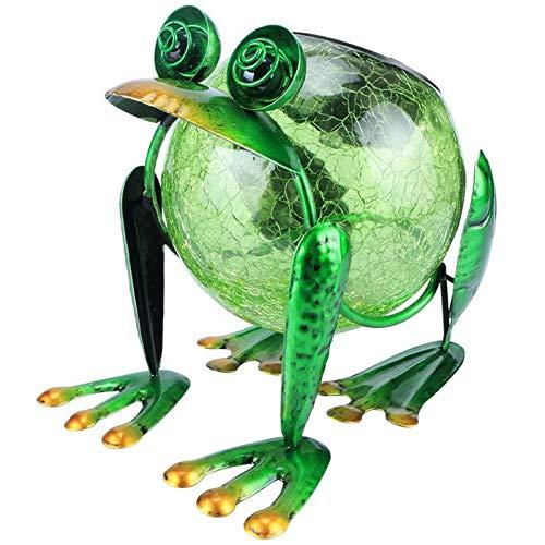 Vigdur Solar Lantern Outdoor Decorative Waterproof LED Solar Lights Frog Tabletop Lamp for Outdoor Patio Garden