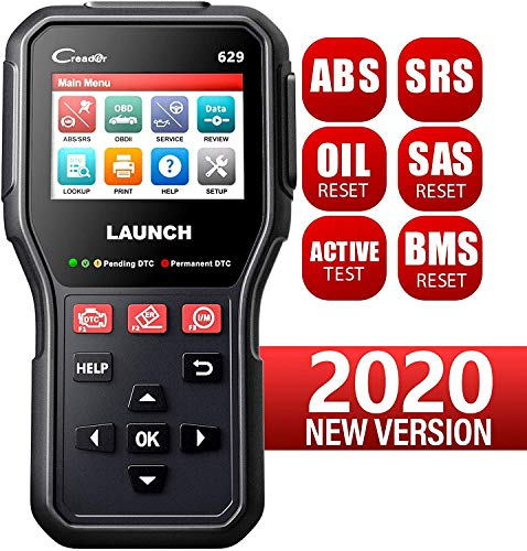 LAUNCH CR629 OBD2-Diagnosegerät Öl LWS Service-zurückstellen, Airbag ABS Motor Diagnose, Lenkwinkelsensor Service Reset, Stellgliedtest, 9 Sprachen Deutsch inkl. Free Software-Update