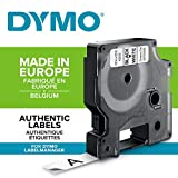 Dymo Authentic D1 Labels, Black Print on White Tape, 12mm x 7m, Self-Adhesive Labels for LabelManager & MobileLabeler Label Printers