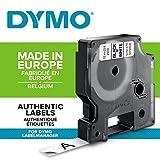 DYMO D1-Etiketten selbstklebend (schwarzer Druck auf weißem Untergrund, 12 mm x 7 m, für LabelManager-Etikettendrucker, authentisches Produkt)