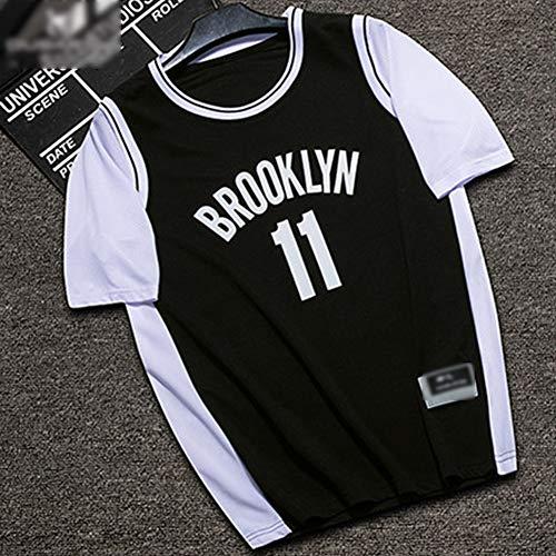 Z/A Brooklyn Nets Kyrie Irving # 11 Jersey-Shirt Wettbewerb Ausbildung Basketball Uniform Heiß Gestickt Schweißabsorbierend Jersey Weste,Schwarz,M