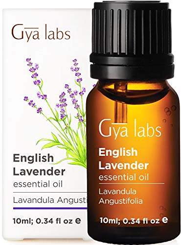 Gya Labs English Lavender Essential Oil  Mood Calmer for Peaceful Sleep amp Flawless Skin 10ml  100% Pure Therapeutic Grade Aromatherapy Lavender Oil Essential Oils for Diffuser amp Topical Use