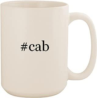 #cab - White Hashtag 15oz Ceramic Coffee Mug Cup