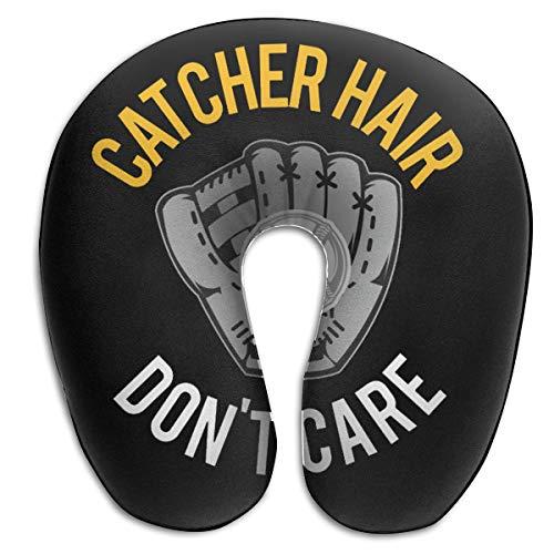90ioup Catcher Almohada de Espuma viscoelástica para el Cuello con inscripción en inglés Don't Care U-Neck, poliéster, Blanco, Talla única
