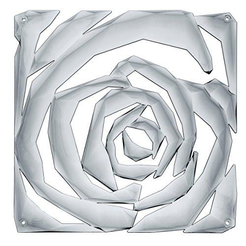 koziol Romance divisorio/Ornamento, plastica, plastica, Transparent Anthracite, 0.4x26.9x27 cm