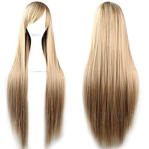 Rbenxia 32'' Women's Cosplay Wig Hair Wig Long Straight Costume Party Full Wigs Light Brown