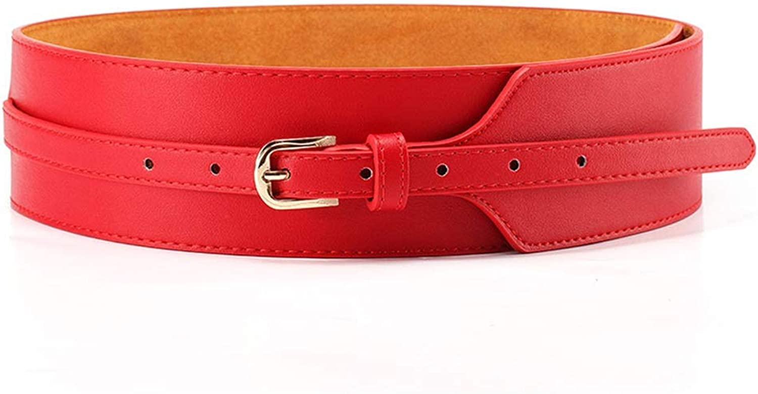Ladies Belt Women Leather Width Plus Size Adjustable Skinny Waist Belt for Jeans Pants Dresses (color   Red)