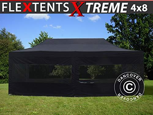 Dancover Vouwtent/Easy up tent FleXtent Xtreme 60 4x8m Zwart, inkl. 6 Zijwanden