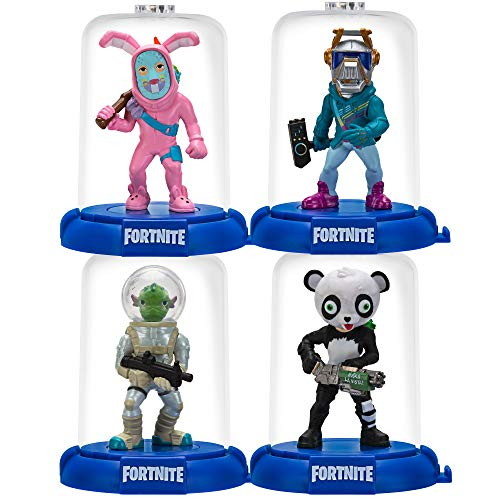 Fortnite DMZ0262 Domez 6 cm Figuren 4-er Pack (Squad Mode-DJ Yonder, Rabbit Raider, Panda Team Leader, Leviathan) Serie 2 Sammelfiguren