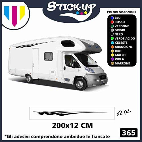 Stick-up Decacolmania - Kit de 2 Adhesivos para Autocaravana, diseño Tribal, Vinilo, Adhesivos gráficos para Caravana y Autocaravana Colori Come da Foto