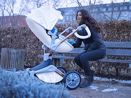 Hot Mom Silla de paseo Reversibilidad rotación multifuncional de 360 grados con buggy asiento y capazo 2020 Nueva actualización (Dark023)