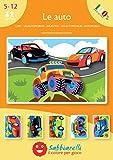 Sabbiarelli Sand-it for Fun - Album Le Auto: 5 Disegni Adesivi da Colorare con la Sabbia (Non Inclusa), Adatto per Adatto per Bambini Anni 5+