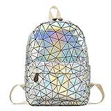 Hologramm Rucksack, Geometrische Rucksack Laser Rucksäcke Mode Daypacks Schultertasche Travel...