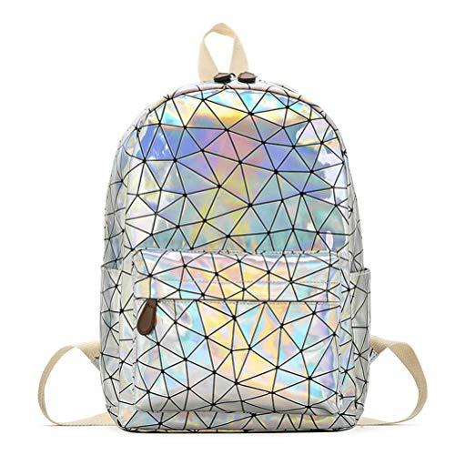 Hologramm Rucksack, Geometrische Rucksack Laser Rucksäcke Mode Daypacks Schultertasche Travel College Rucksack Reise Schule Rucksack