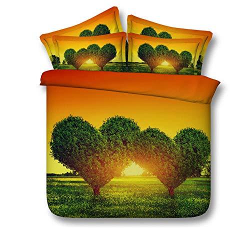 Árbol de Doble corazón (Funda nórdica + Funda de Almohada) Ropa de Cama para Adultos Ropa de Cama Juegos de Cama 220cm x 230cm