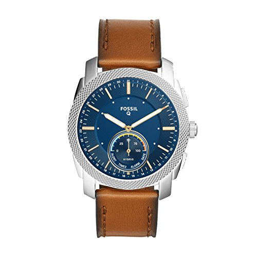 Fossil FTW1162 Analoog kwarts Smart Watch polshorloge met lederen armband