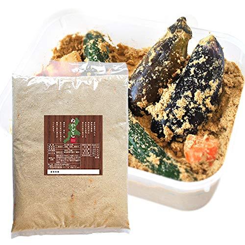 ぬか床 1kg お米からこだわった ( ぬか床使用時 2kg 分 ) メール便 配送 契約農家が作る三重県産特別栽培米の新鮮な米ぬかと国産原料のみを使用したぬか床 NP