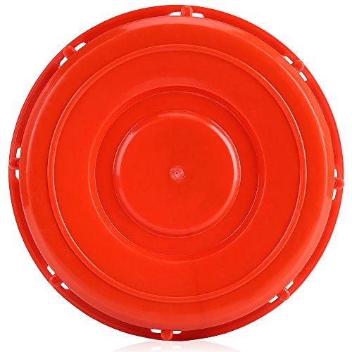 Zerodis IBC Tankdeckel Deckel Abdeckkappe Ersatzteil Tank Zubehör Kunststoff Rot 163mm für Wasser Flüssigkeitsspeicher(#2)