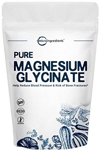 Polvo de glicinato de magnesio puro de origen estadounidense, 250 gramos, apoyo fuertemente huesos, cardiovascular y muscular, sin OMG y apto para veganos