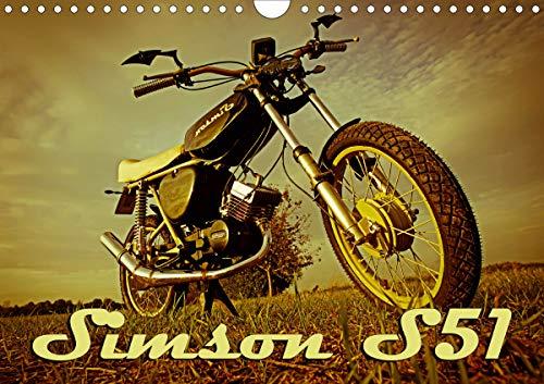 Simson S51 (Wandkalender 2021 DIN A4 quer)