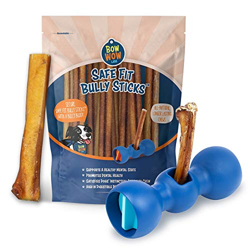 Bow Wow Labs Bully Buddy Starter Kit - Anti-Choking Bully Stick Safety Device for Dogs (X-Large)
