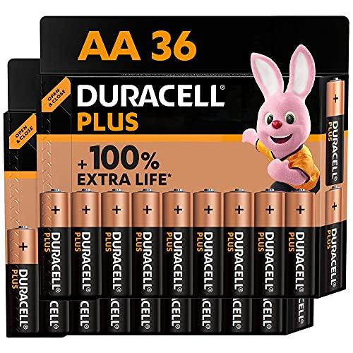 Duracell - NUOVO Plus AA, Batterie Stilo Alcaline, confezione da 36, 1.5 volt LR6 MN1500