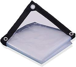 AOHMG transparante Tarps Heavy Duty Waterproof, Outdoor Multi Purpose Tarpaulin Cover Poly Tarp met Grommets, Versterkte r...