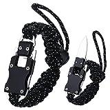 WEREWOLVES Adjustable Paracord Knife Bracelet, Survival Cord Bracelet with Knife, Tactical EDC Paracord Bracelet for Outdoor Hiking Traveling Camping, Paracord Bracelet for Men & Women (Starry Sky)