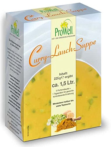 ProWell Diät- und Ernährungsprogramm - Curry-Lauch-Suppe - 225 g (5 Portionen)