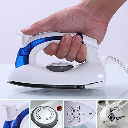 PEARL ACE Mini 700W Portable Foldable Travel Steamer Dry Iron with U-Shape...