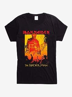 Hot Topic Iron Maiden The Wicker Man Girls T-Shirt Black