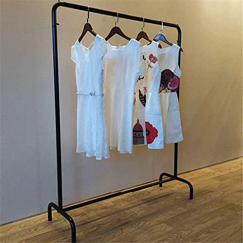 Perchero Perchero para trabajo pesado Perchero Perchero Rieles para ropa Soporte de exhibición de metal para sala de estar Para garaje Vestíbulo Armario de oficina (Color: Negro, Tamaño: 120X40X130Cm