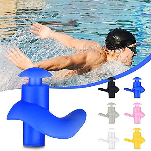 Wasserdichte Ohrstöpsel Schwimmen, Professionelle Wiederverwendbare Silikon Ohrstöpsel mit Aufbewahrungsbox für Schwimme Ohrschutz (Blau)