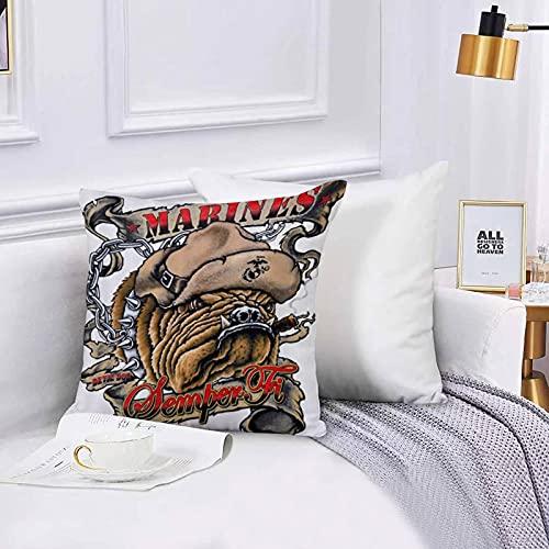 Lilatomer dekorativer Kissenbezug,Stuhl, Bettwäsche, Marines Semper Fi Devil Dog RauchenKissenbezüge für Couch, (45 x 45 cm) mit unsichtbarem Reißverschluss