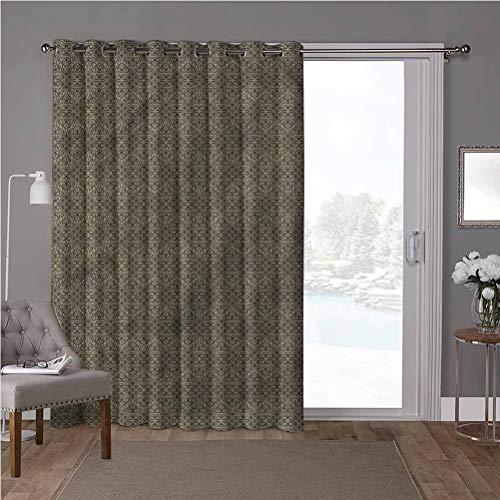 YUAZHOQI Cortinas térmicas para puerta de patio, damasco, retro abstracto, floral, W52 x L84 pulgadas persianas verticales para puerta de honda (1 panel)