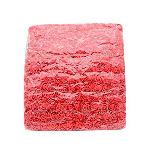 Little Finger Mini-Schaumstoff-Rose, 144 Stück, 2,5 cm, Schaumstoff-Rose, künstliche Blumen, Hochzeit, Party, DIY, Geschenkbox, Dekoration, plastik, rot, 1#