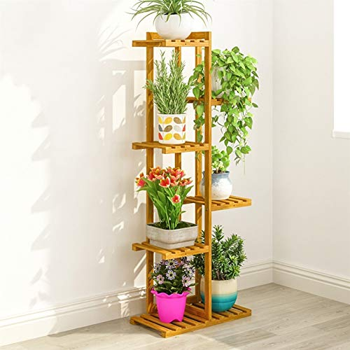 Flower Display Rack Indoor Multiple Plants Pot Holder Extra Tall 20/30/40/50 Inch, Bonsai Succulents Flower Stand for Garden, Patio, Balcony & Home Use for Patio Garden Balcony Indoor Outdoor