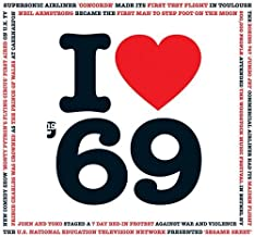 1969 BIRTHDAY or ANNIVERSARY GIFT - I Love 1969 Compilation Music Hits CD - 20 Original Songs - 1969 Year Greeting Card