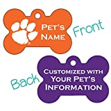 uDesignUSA Clemson Tigers 2-Sided Pet Id Dog Tag | Officially Licensed | Personalized for Your Pet