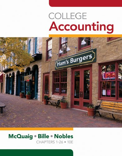 College Accounting, Chapters 1-24 (Available Titles...