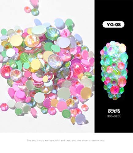 MFKW 2019 Rode oplichtende diamanten fluorescerend Super Flash Mixed Multi-Cut platte boormachine